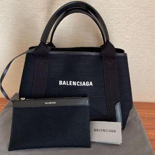 BALENCIAGA BAG - バレンシアガ ネイビー カバ S キャンバストートバッグ
