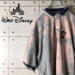 ディズニー(Disney)の【入手困難】90s ディズニー ミッキー ゴルフ ポロシャツ ブリーチ加工(ポロシャツ)