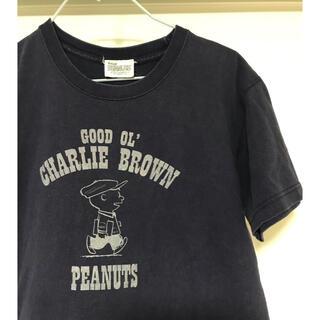 ピーナッツ(PEANUTS)のピーナッツ チャーリーブラウン ヴィンテージTシャツ ネイビー(Tシャツ/カットソー(半袖/袖なし))