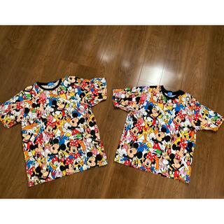 ディズニー(Disney)のディズニー 総柄 tシャツ(キャラクターグッズ)