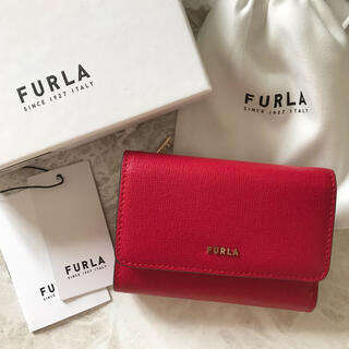 Furla - 新品!フルラ FURLA 三つ折り財布 赤 レッド RUBY