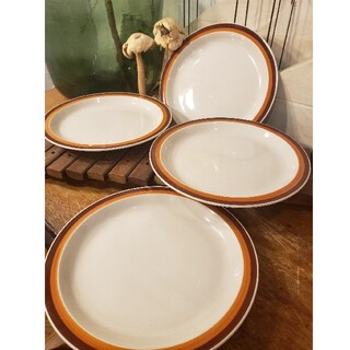 ストーンウェア 皿 食器 レトロ 昭和 ヴィンテージ プレート 23