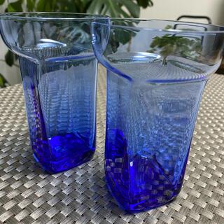 スガハラ(Sghr)のスガハラ ユニゾングラス(コバルトブルー)セット(グラス/カップ)