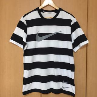 NIKE - NIKE ナイキ ボーダー スウォッシュ Tシャツ Lサイズ 新品 正規品