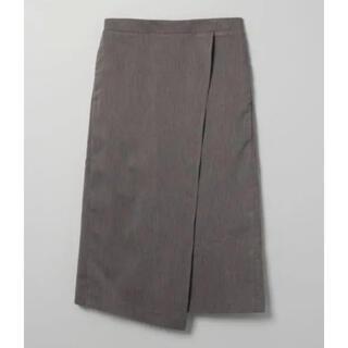 ジーナシス(JEANASIS)のJEANASIS☆新品未使用 アソートラップスカート グレー 膝丈 フリーサイズ(ひざ丈スカート)