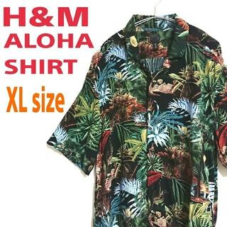 エイチアンドエム(H&M)のH&M ALOHA SHIRT ハイビスカス柄 花模様 柄シャツ アロハシャツ(シャツ)