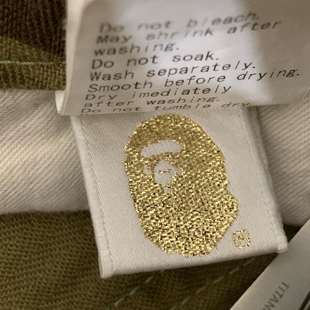 A BATHING APE(アベイシングエイプ)の★希少★ APE グリーン カモ ハーフ パンツ ショーツ M メンズのパンツ(ショートパンツ)の商品写真