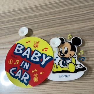 ディズニー(Disney)の車用ステッカー ベービーインカーミッキー(車内アクセサリ)