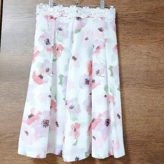 プロポーションボディドレッシング(PROPORTION BODY DRESSING)の花柄フレアスカート プロポーションボディドレッシング (ひざ丈スカート)