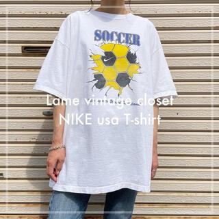NIKE - 【希少】USA製 NIKE ナイキ プリント Tシャツ 古着 90s Lサイズ