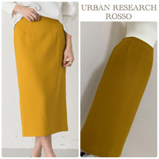URBAN RESEARCH ROSSO - 【美品】URBAN RESEARCH ROSSO Iラインスカート*イエロー系