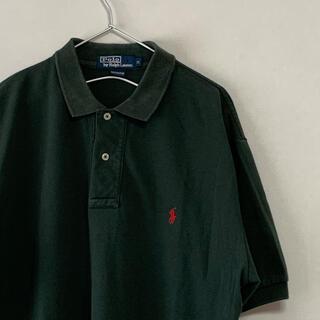 Ralph Lauren - 古着 90s POLO Ralph Lauren 半袖ポロシャツ ダークグリーン