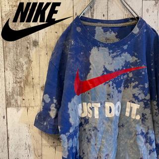 NIKE - 【激レア】90s ナイキ NIKE Tシャツ ブリーチ加工 ビッグスウォッシュ