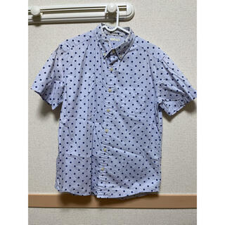 GU - GU メンズ 半袖シャツ ドット柄