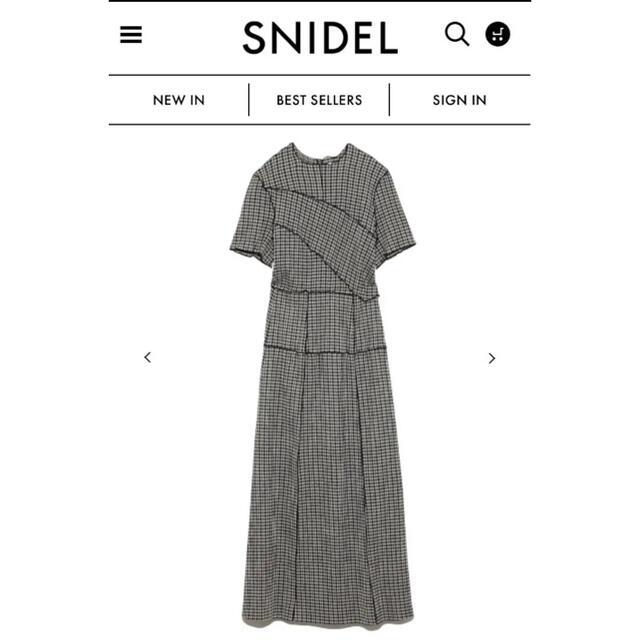 snidel(スナイデル)のメローデザインワンピース snidel スナイデル レディースのワンピース(ロングワンピース/マキシワンピース)の商品写真