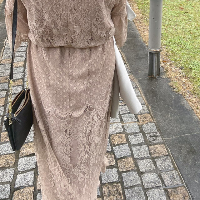 apart by lowrys(アパートバイローリーズ)のapart by lowrys パネルレースワンピース レディースのフォーマル/ドレス(その他ドレス)の商品写真