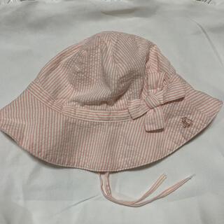 PETIT BATEAU - ベビー帽子 プチバトー 女の子