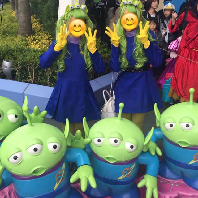 Disney(ディズニー)のリトルグリーンメン 仮装 レディースのウィッグ/エクステ(ロング