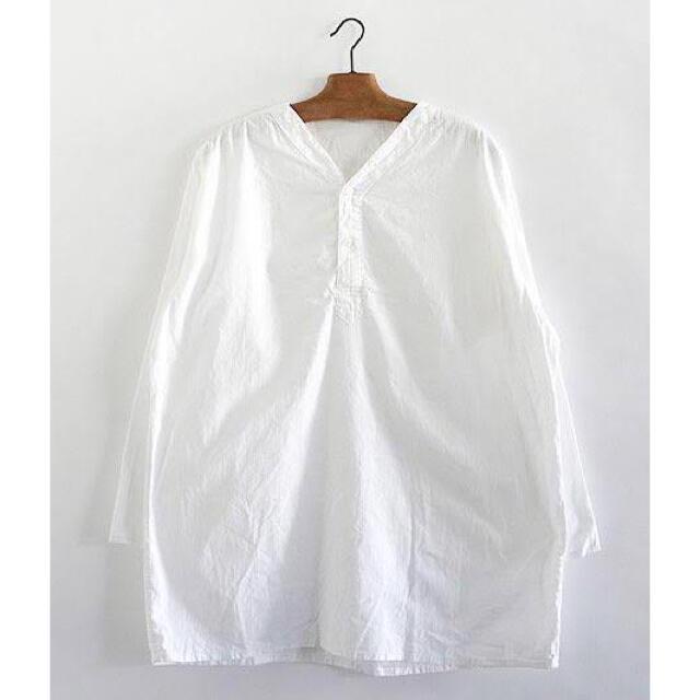 【DEAD STOCK】80s 50-4 薄手 ロシア軍 スリーピングシャツ メンズのトップス(シャツ)の商品写真