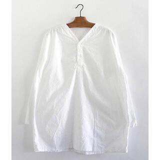 【DEAD STOCK】80s 50-4 薄手 ロシア軍 スリーピングシャツ