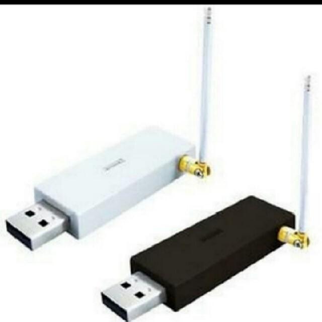 【送料無料】USBワンセグチューナー♪番組表/予約録画/タイムシフト♪シルバー スマホ/家電/カメラのPC/タブレット(PC周辺機器)の商品写真