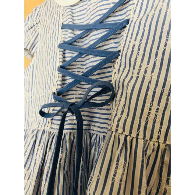 Art Letter レース刺繍生地ワンピース 120cm キッズ/ベビー/マタニティのキッズ服女の子用(90cm~)(ワンピース)の商品写真