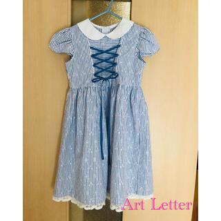 Art Letter レース刺繍生地ワンピース 120cm