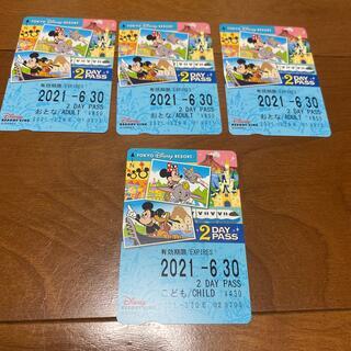 ディズニー(Disney)のディズニーリゾートライン 2デイパス 4枚セット(遊園地/テーマパーク)