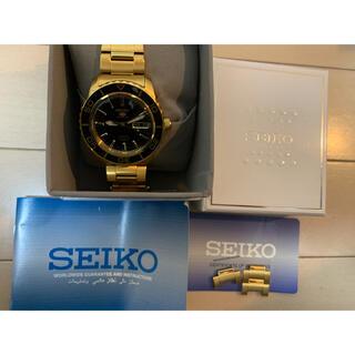 セイコー(SEIKO)のSEIKO セイコー5スポーツ 自動巻 7S36-04N0 ゴールド 美品(腕時計(アナログ))