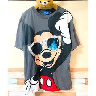 Disney - ミッキー Tシャツ ディズニー グレー