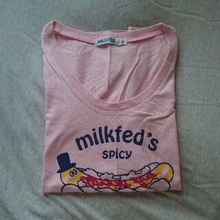 MILKFED. - ミルクフェド ホットドッグ プリントTシャツ