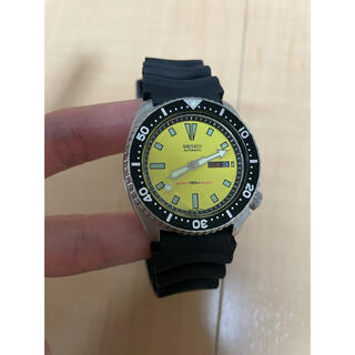 セイコー(SEIKO)のSEIKO セイコー 6309-729A ダイバー150m イエロー 自動巻(腕時計(アナログ))