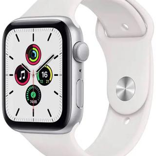 Apple Watch - Apple Watch SE GPSモデル 40mm シルバー ホワイトバンド