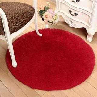 北欧 ラウンドカーペット  お洒落 絨毯 丸形(キッチンマット)