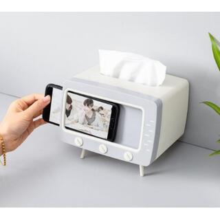 テレビ型ティッシュボックス ティッシュケース 寝室 部屋 オフィス 電話ホルダー(ティッシュボックス)