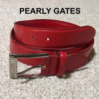 PEARLY GATES - PEARLY GATES パーリーゲイツ レザーベルト/ロゴ型押し カット可能