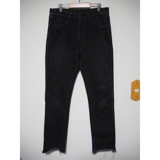 アンユーズド(UNUSED)のUNUSED 13.5oz Denim Jeans カットオフ ブラックデニム(デニム/ジーンズ)