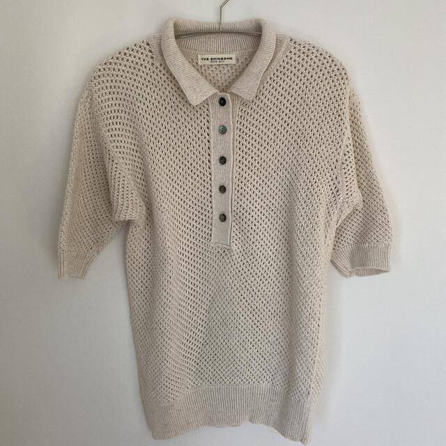 Shinzone(シンゾーン)のSHINZONE  シンゾーン メッシュ ポロシャツ レディースのトップス(ニット/セーター)の商品写真