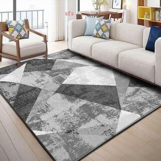 北欧の抽象風格  客間 じゅうたんは現代 ソファー茶卓じゅうたんを簡潔(キッチンマット)