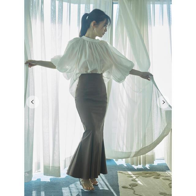 snidel(スナイデル)のsnidelハイウエストヘムフレアスカート レディースのスカート(ロングスカート)の商品写真