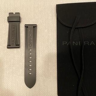 パネライ(PANERAI)のパネライ 尾錠用ラバーベルト 黒(ラバーベルト)