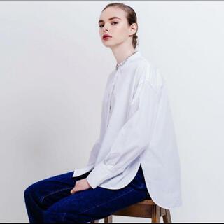 yonfa boxy slit shirt ホワイト