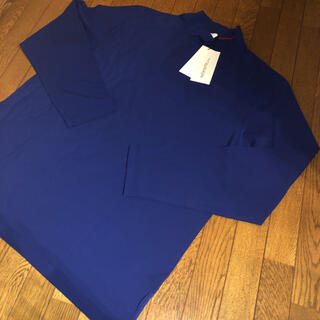 シーケーカルバンクライン(ck Calvin Klein)のカルバンクライン、新品、カッコいい ハイネック長Tシャツ、サイズ3L青(Tシャツ/カットソー(七分/長袖))
