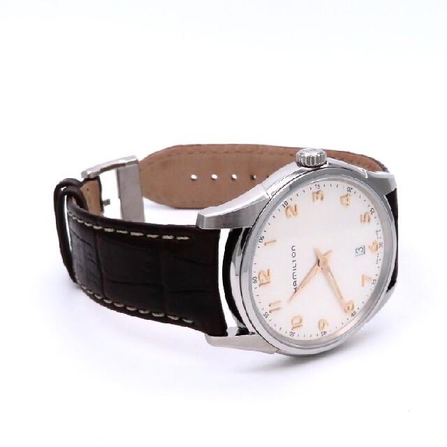 Hamilton(ハミルトン)の【HAMILTON】ハミルトン 時計 'シンライン' ゴールド/ホワイト☆美品☆ メンズの時計(腕時計(アナログ))の商品写真