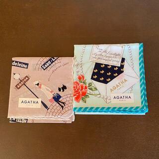 アガタ(AGATHA)の限定セール!☆ギフト袋入りアガタハンカチ2枚セット新品(ハンカチ)