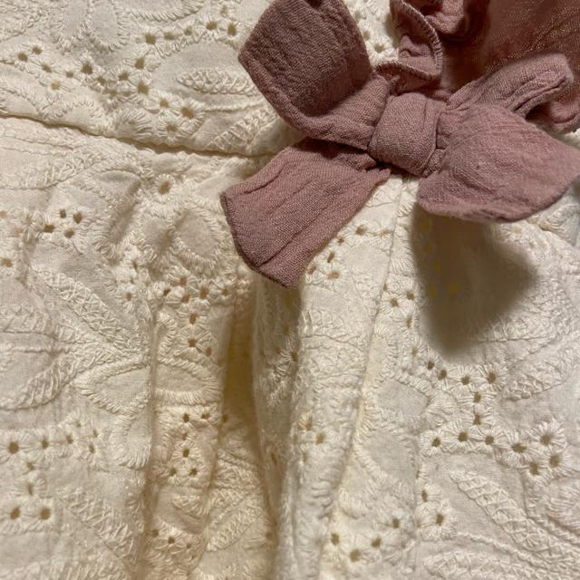 petit main(プティマイン)のプティマイン 肩フリル チュニック 130 キッズ/ベビー/マタニティのキッズ服女の子用(90cm~)(Tシャツ/カットソー)の商品写真