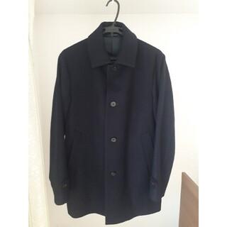 プラステ(PLST)のPLST ウールブレンドコート ネイビー スーツ(ステンカラーコート)