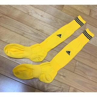 アディダス(adidas)のadidas ソックス 黄色 約25cm 最終値下げ(ソックス)