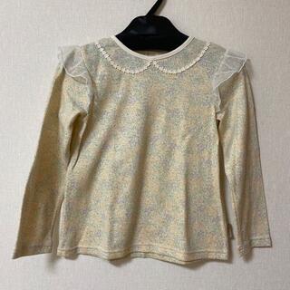 キムラタン(キムラタン)の【新品】淡い花柄のロンT  120cm(Tシャツ/カットソー)