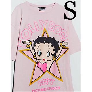 【新品未使用】ZARA ベティ・ブープ Tシャツ BETTY BOOP S(Tシャツ(半袖/袖なし))